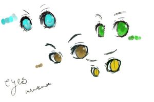 :eyes: by mikachanthebunny