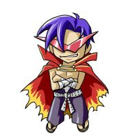 Chibi Kamina by glance-reviver