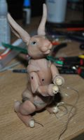 Rabbit BJD WIP by gummiberri
