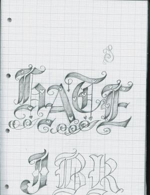 Tattoo Letter Designs