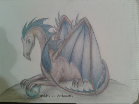 Blue Dragon by goldyc