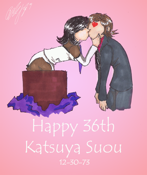 Happy 36th Katsuya Suou by TeamAquaSuicune