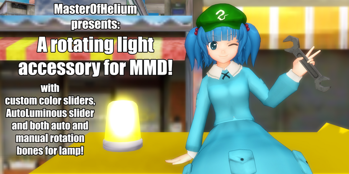 [MMD accessory download] Rotating light by MasterOfHelium
