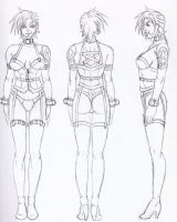 Clothed Myanna Sheet Sketch by Renezuo