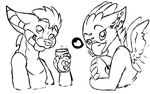Mazzy and Narric sketch doodles by stickerheart