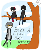 Birds Of A Feather! by RayvieCat