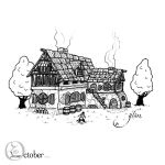 Drawctober #1 - Little house by Glass-no-E