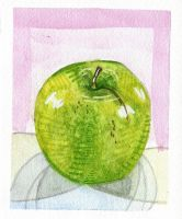 Food I Ate: Granny Smith Apple by lozartist