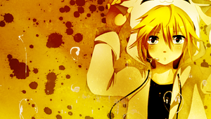 Len PSP wallpaper by QiaoFather