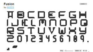 Fusion Font Pack by KK555