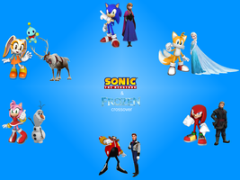 Sonic and Frozen Crossover: Character Combination by bvge