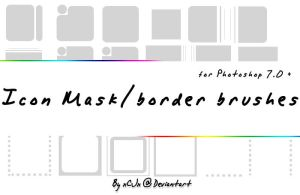 Icon BorderMask brushes by xCJx