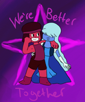 Ruby and Sapphire by PsychoBabble192