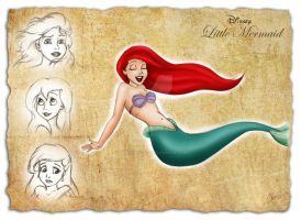 Little Mermaid sketches by madmoiselleclau