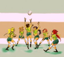 Kunoichi Volleyball by lila-me