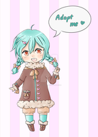 Mint Chocolate Adoptable [CLOSED] 400 points by Rin95
