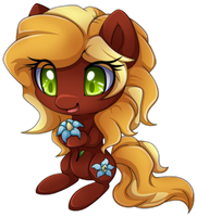 Com:Chibi pony Dove Flower by Extra-Fenix