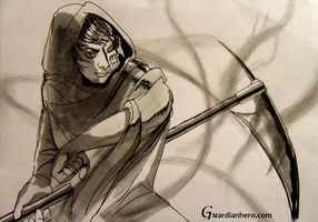 Young Grim Reaper for Guardian Hero by HandDrawnHentai