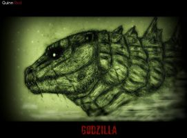 NightVision Godzilla 2014 by Quinn-Red