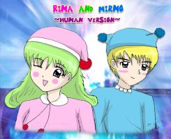 Rima and Mirmo-Human Version by kazaki03