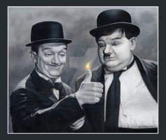 Laurel and Hardy by PrincessTigerLili