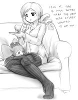 Mami's houseguests by AlloyRabbit