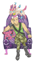 Jorgen Von Strangle the Fairy Gym Leader by jog-my-memory