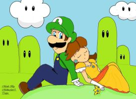 Luigi and Daisy by midna-fan15
