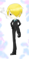 Chibi Sanji is Ready to Rumble by xDoodleZx