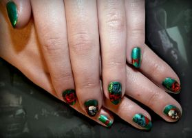 Tribal Gothic Nails by Undomiele