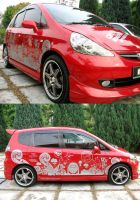 Honda Jazz Car Decal by theyellowdino