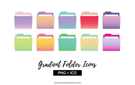 Gradient Folder Icons by MunaNazzal