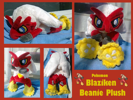 Blaziken Beanie Plush by methuselah-alchemist
