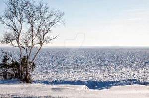 Lake Superior Frozen by melissa3339