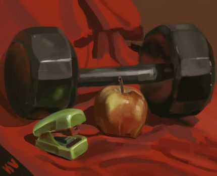 Weight Still life by Kellonv