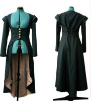 Costume -- Coat, Turquoise and Silver by Victoria-Fletcher