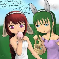 Easter Egg Hunt (Enya and Summer) by LexiSmiles