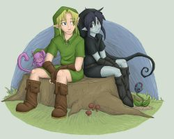Link and his Shadow by kiki-isbeing-purples