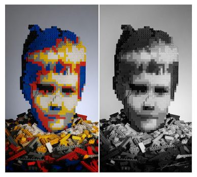 Lego Portrait by linecut
