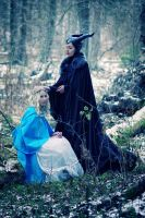 Maleficent and Aurora by Biosintes