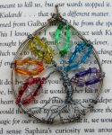 Rainbow Tree Pendant by ADHD-art