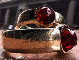 Ruby rings by Witho