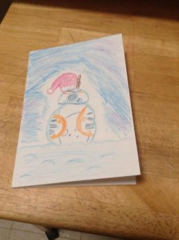 BB-8 snowman card by Meag1p