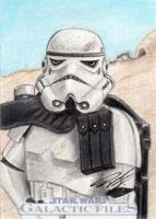 Star Wars GF - Sandtrooper Sketch Art Card by DenaeFrazierStudios
