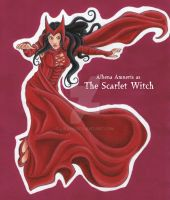 CoK Activity 7 - Alhena as the Scarlet Witch by Liraen
