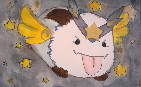 Traditional Star Guardian Poro by TheAcrylicKnight