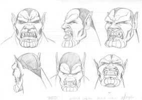 Skrull head by Theamat