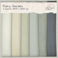 Rainy Garden paper pack by Eijaite