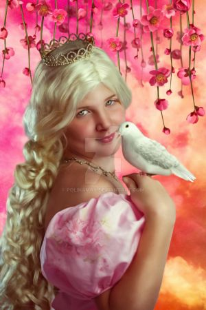 Prinzess-and-dove by Polinamay