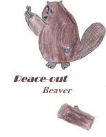 Beaver peace out by Serpent1212